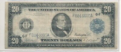 1914 $20 Atlanta fed note
