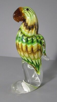 Murano Glass Parrot Figure / Paperweight
