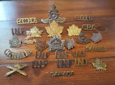 Canada Cap Collar Shoulder Badges Lot X26