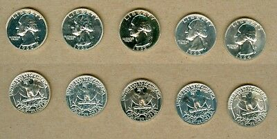 1960 - 1964 U.S. Washington Proof Silver Quarters Set