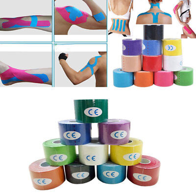 5 Meter Kinesiology Sports Tape Muscles Stretch Physio Therapeutic Waterproof