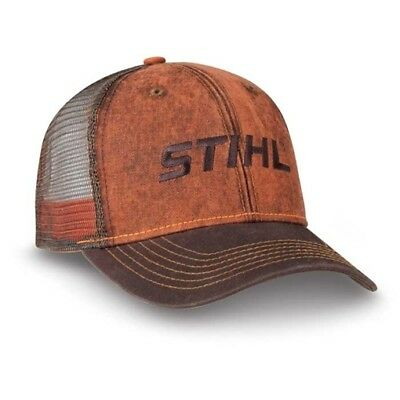 STIHL Chainsaws *DIRTY WASHED LOOK MESH BACK* LOGO CAP HAT *BRAND NEW* ST19