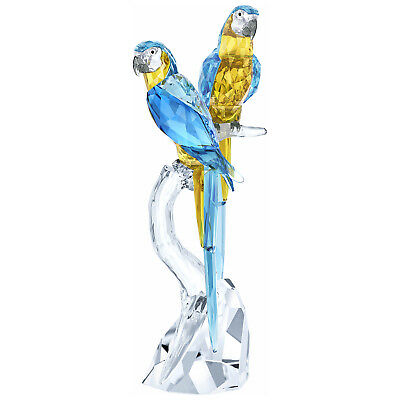 Macaws Birds Colorful Blue And Yellow 2018 Swarovski Crystal 5301566