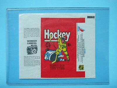 1975/76 O-Pee-Chee Hockey Card Wax Pack Wrapper Harold Snepsts Rookie Wc Opc