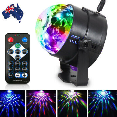 USB RGB LED Disco Ball DJ Party Light Effect Strobe Remote Sound Activated Auto