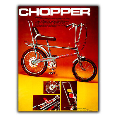 CHOPPER RALEIGH BIKE METAL SIGN WALL PLAQUE Vintage Advert art print 1970s