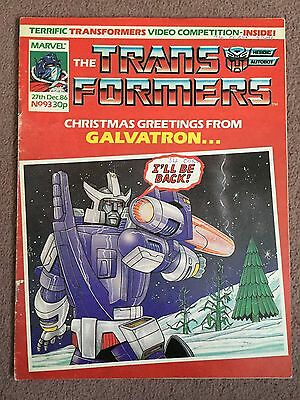 Transformers Comic Marvel Uk #93