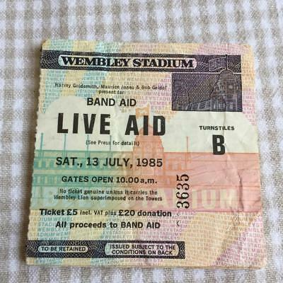 Live Aid ticket Wembley 13/07/85 Bowie U2 Queen #3635