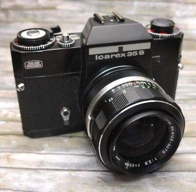Zeiss Ikon Icarex 35S mit Zeiss Icarex BM 2,8/35mm  Nr 100200  Perfekt! in black