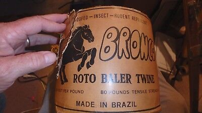 complete roll of BRONCO roto baler twine- 7500 feet- made brazil 80 lb strength