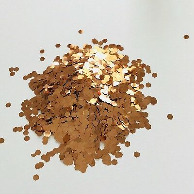ROSE GOLD 2mm HEXAGON CHUNKY GLITTER FESTIVAL FACE BODY 10g 50g 100g