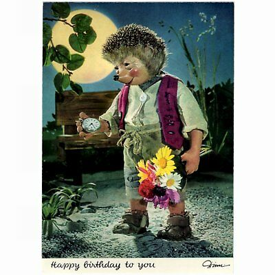 "AK Postkarte Mecki Igel / Original Diehl Nr. 404, ""Happy Birthday to you"""