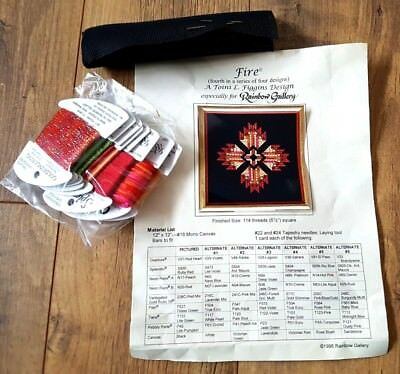 Retro 70s look 'FIRE' A Toini L. Figgins Design ASIA Needlepoint Kit craft
