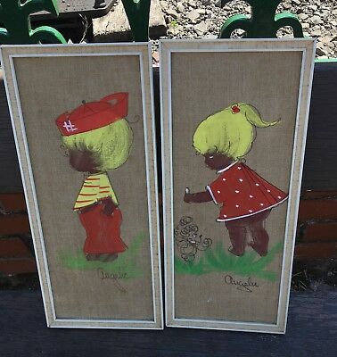 A Pair Of Midcentury Framed Pictures Sale!