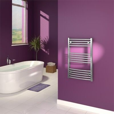 Supaplumb Chrome Curved Towel Rail, 500 X 800mm