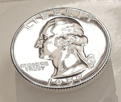 "1957   Quarter  Gem  Proof  Premium  Quality ""Sparkling  Eye  Candy""   #715  4"