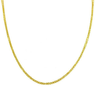 Fremada 14k Yellow Gold 16-inch Double Strand Cable Chain Necklace