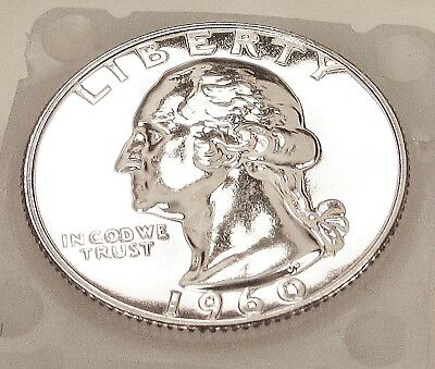 "1960  Quarter  Gem  Proof  Premium  Quality ""Flashy  Eye  Candy""   #716  18"