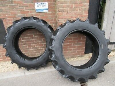 RADIAL TRACTOR TYRES 12.4R28 11x28  REMOVED FROM MASSEY FERGUSON MF 135 X2