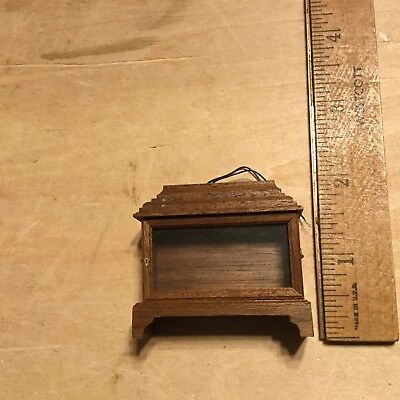 NOS,Lighted,Walnut display case,for inside of 1:12 mini scenes,by J.Beales