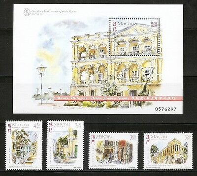 Macao SC # 957-961 Paintings Of Macao By Didier Rafael Bayle. Complete Set .MNH