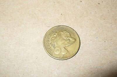 "Vintage Adult Nude  Novelty Token Coin ""heads I Win -Tails You Lose"""