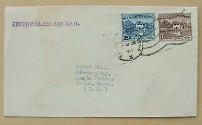 1965 cover from Pakistan to England second class air mail