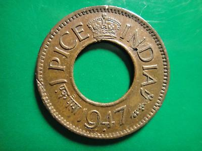 1947 INDIA BRITISH 1 Pice AC0061 UNCIRCULATED