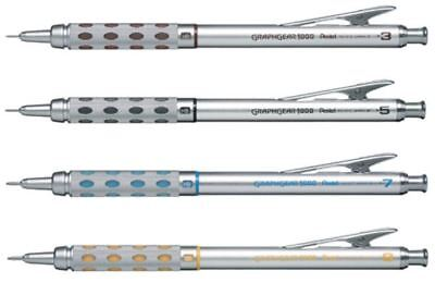 Pentel GraphGear 1000 Drafting Mechanical Pencil - 0.3mm, 0.5mm, 0.7mm, 0.9mm