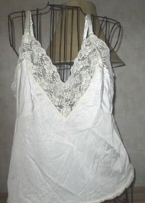 Cami in a beautiful off white with wide lace on bodice lady's camisole