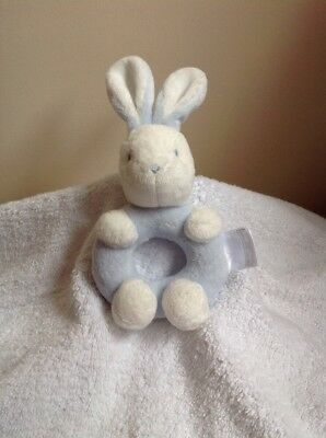 The Little White Company Bunny Rabbit Rattle Plush Comforter Toy Baby Easter