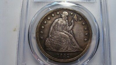 1842 Seated Liberty Dollar  PCGS XF-45  Nice!!