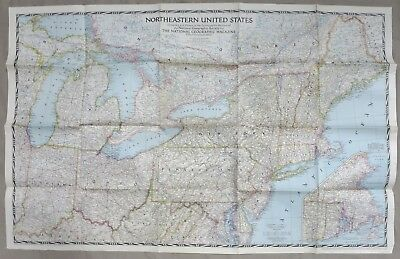 WW2 VINTAGE MAP of NORTHEASTERN UNITED STATES Dated 1945 ...