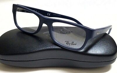 New Authentic Ray-Ban Rx5268 5583 Matte Navy Blue 48/17/135 Rx Eyeglasses