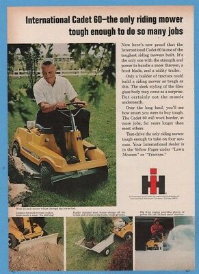 1969 Cub Cadet 60 riding mower International Harvester IH vintage photo print ad