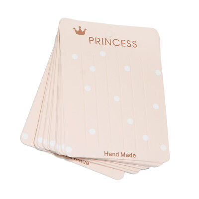 40pcs Fashion Hair Clips Hair Bow Jewelry Display Packaging Cards Rectangle