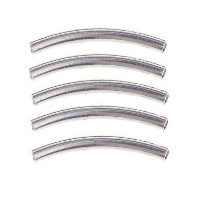 5pcs Higg Quality Sterling Silver Carved Tube Beads Fit Bracelet Jewelry DIY