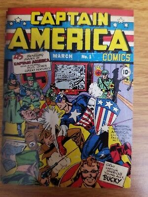 2011 Upper Deck Captain America The First Avenger #C-1 Comic Cover Card NM-Mint