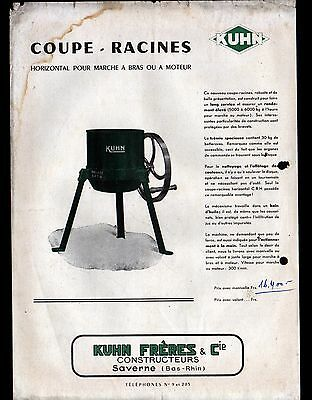 """SAVERNE (67) MACHINES AGRICOLES / COUPE RACINES """"KUHN Freres"""" Tract"""