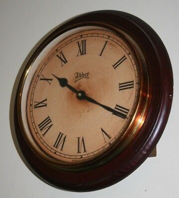 Wood Antique Victorian Style Railway School Wall Clock Waiting Room Time Piece