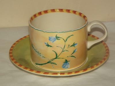 Royal Stafford Gardeners Journal Harebell & Dandelion CUP & SAUCER