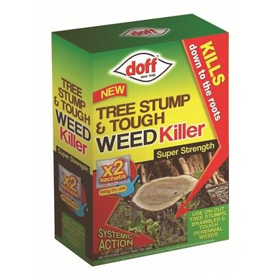 Doff New Tree Stump & Tough Weedkiller, 2 Sachet