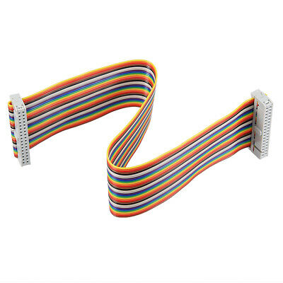 IDC 34 Pins Wire Flat Multicolored Flexible Rainbow Ribbon Jumper Cable 30cm