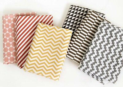 Scandinavian striped Quality Laminated Cotton fabric Oilcloth WATERPROOF JLW51+
