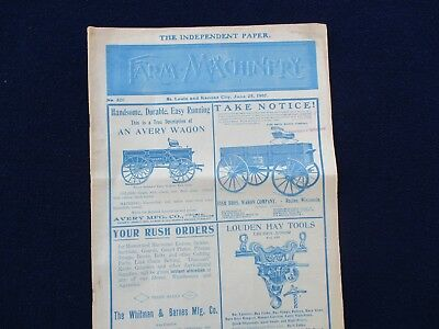 "1907 HUGE NICE Farm Machinery,""LOTS OF PICTURES"",St.Louis,Kansas City Magazine!"