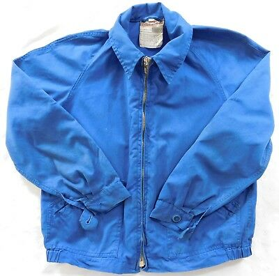 Vintage childs jacket 1960s WINDALL windcheater blue outdoor coat boy girl 28""