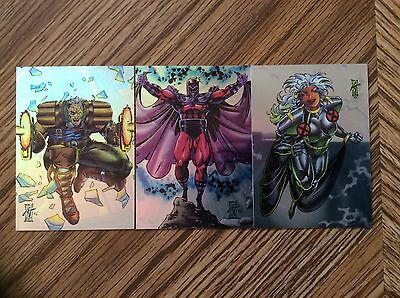 1993 Skybox Marvel X-Men 2 Holofoil (3) Card Set Looks To Be Nmt/mt Condition