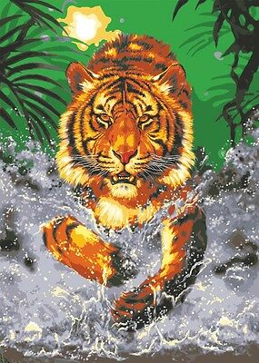 Grafitec Printed Tapestry Needlepoint Canvas - Water Tiger