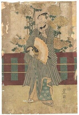 Genuine original Japanese woodblock print Toyokuni I c.1815