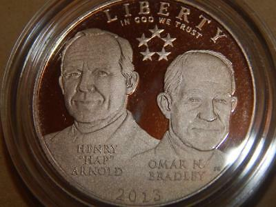 2013 5-star Generals Commerative Coin Proof Clad 50 cents COA & Boxes
